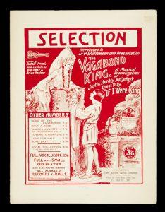 [SHEET MUSIC]  The Vagabond King : a musical dramatization of Justin Huntly McCarthy's great play,# 10965