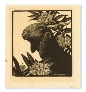 Goat & rhododendronLINDSAY, Lionel# 10043