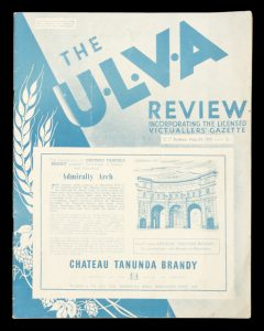 [ALCOHOL] The U.L.V.A. review. Vol. 29 no. 2, August 25, 1952.United Licensed Victuallers Association. New South Wales Branch.# 9825