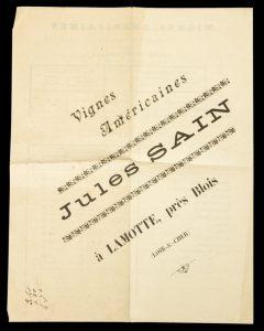 [WINE] Vignes américaines : Jules Sain, à Lamotte, près BloisSAIN, Jules# 9816