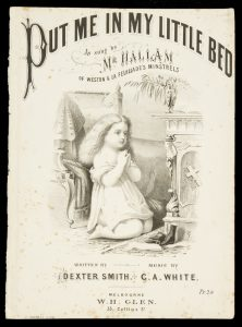[SHEET MUSIC] Put me in my little bed