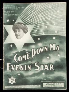 [SHEET MUSIC] Come down ma evening' star