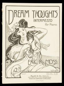 [SHEET MUSIC] Dream thoughts : intermezzo for pianoMOSS, Eric R.# 9696