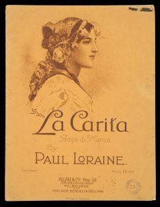 [SHEET MUSIC] La Carita (Tempo di Marcia).LORRAINE Paul# 9694