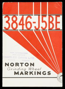 Norton grinding wheel markings[CHARLES DAVIS LTD.]# 9396