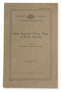 Some important poison plants of North Australia