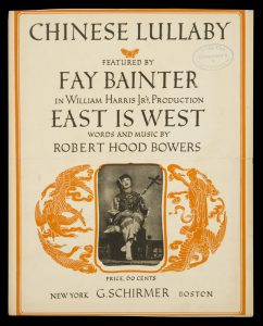 [SHEET MUSIC] Chinese lullabyBOWERS, Robert Hood# 9105