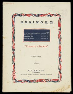 [SHEET MUSIC] Country gardens : piano soloGRAINGER, Percy# 9074