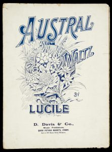 """[SHEET MUSIC] Austral waltz by Lucile.""""LUCILE""""# 9072"""