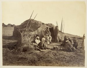 Aboriginal camp, Point McLeay, South Australia, 1880
