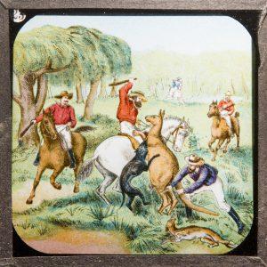 [ABORIGINES; GOLD MINING]; Our colonies : Australia. Set of glass magic lantern slides, c 1910[W. BUTCHER & SONS]# 6961