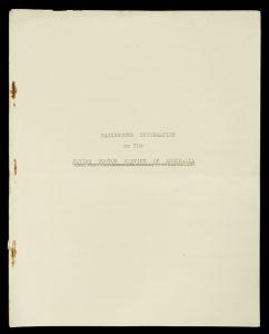 Background information on the Flying Doctor Service of Australia (unpublished)[FLYING DOCTOR SERVICE OF AUSTRALIA, VICTORIAN SECTION]# 6956