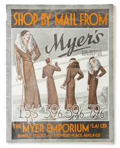 Myer's mail shoppers guide for Autumn and Winter 1934.