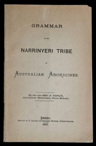 Grammar of the Narrinyeri tribe of Australian Aborigines