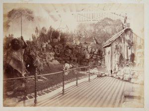 [ABORIGINES] Diorama of a bush scene, South Australian Court, Melbourne International ExhibitionHART, Ludovico (attributed)# 5467