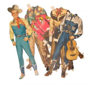 [CUT OUT DOLLS] Jimmy and Jane visit Gene Autry at Melody Ranch