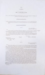 [GOLD RUSH] Mr. Hargreaves [sic].Victoria. Parliamentary Paper.# 3813