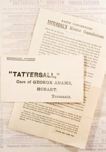 [GAMBLING; HORSE RACING; TASMANIA] Facts concerning Tattersall's Monster Consultations. June, 1899.