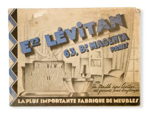 [FURNITURE; ART DECO] Ets. Lévitan. 63, Bd. Magenta, Paris. Catalogue 1931.