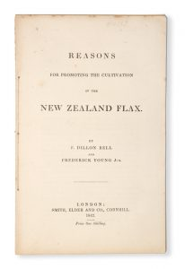 [NEW ZEALAND; ECONOMICS] Reasons for promoting the cultivation of the New Zealand flax
