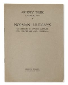 Norman Lindsay's exhibition of water colours, pen drawings and etchings LINDSAY, Norman  # 6118