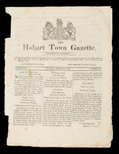 The Hobart Town Gazette (complete run of issues for the year 1835)