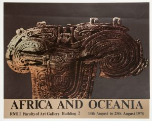 [POSTER]. Africa & Oceania (screenprint and original texta design)