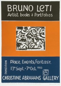 [POSTER]. Bruno Leti. Artist books & portfolios. Place, events, fantasyLETI, Bruno# 14723