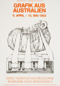 [POSTER]. Grafik aus Australien 9. April - 15 Mai 1983 ... Universität Bayreuth.[KOSSATZ, Les 1943-2011]# 14716