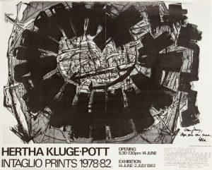 [POSTER]. Hertha Kluge-Pott Intaglio Prints 1978 - 82 (signed)KLUGE-POTT, Hertha# 14711