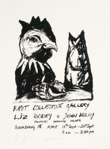[POSTER]. Liz Bodey & John Kelly. Paintings, drawings, prints (signed copy)BODEY, Liz and KELLY, John# 14707