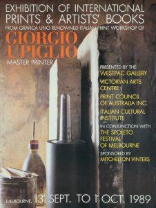 [POSTER]. Exhibition of international prints & artists' books from Grafica UnoUPIGLIO, Giorgio# 14702
