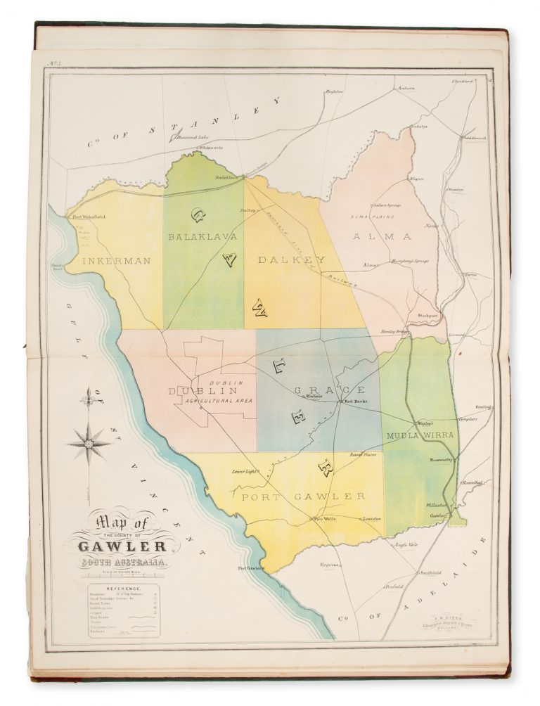 Map Of South Australia And Northern Territory.Vialibri The New Counties Hundreds District Atlas Of South