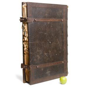 Massive Spanish manuscript choir book in Latin, with a Peruvian Credo# 14447