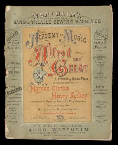 [SHEET MUSIC; MARCUS CLARKE] Alfred the Great : a dramatic & musical fancyCLARKE, Marcus (1846-1881); KEILEY, Henry# 14529