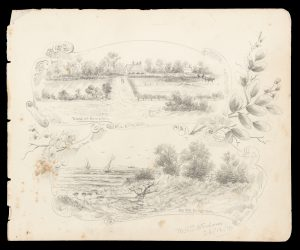 [MELBOURNE] Original pencil drawings of Hampton and Middle Brighton, 1910