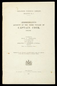 Zimmermann's account of the third voyage of Captain Cook 1776 - 1790