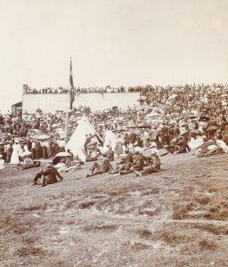 Crowd awaiting entertainment, Douglas Head, Isle of Man, circa 1900WORGAN, Herbert# 14820