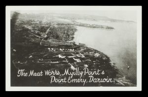 Aerial view of the Meat Works, Myilly Point and Point Emery, Darwin, circa 1925