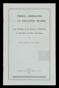 Tribal aborigines ... an educated people.