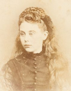 Photographic portrait of an adolescent girl with light auburn hair, West Maitland, circa 1875 CURTIS, A. # 14737