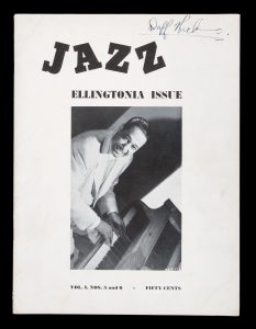 [DUKE ELLINGTON] Jazz Magazine. Vol. 1, nos. 5 and 6. January 1943. Ellingtonia issue.