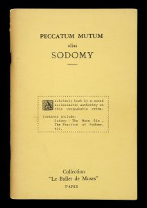 [SODOMY] Peccatum mutum : The secret sin