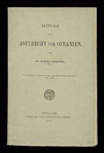 [ASYLUM IN AUSTRALIA & THE PACIFIC] Beiträge zum Asylrecht von OzeanienHELLWIG, Albert# 14629