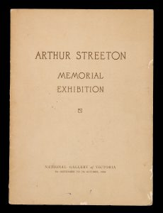 Arthur Streeton memorial exhibition, National Gallery of Victoria, 5th September to 7th October 1944