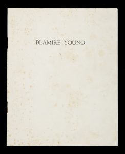 An exhibition of water colours by the late Blamire Young