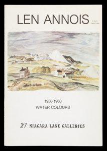Len Annois 1950-1960 watercolours[ANNOIS, Len]# 14424