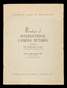 Catalogue of international camera pictures exhibited in the Athenaeum Gallery