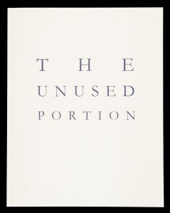 The unused portion (signed copy)HARD, Lynn and SHEAD, Garry# 14890