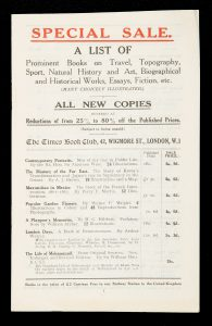 Special sale. A list of prominent books on Travel, Topography, Sport, Natural History and Art,